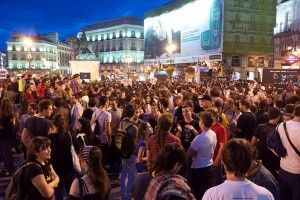 Picture of protest at Plaza del Sol, Madrid, 2011 (Credit: Wiki Images)