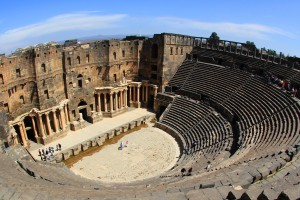 File photo of  the ancient Syrian city of Bosra. Credit: Erg (http://www.flickr.com/photos/-ergo-/5575772627/)  via Wikimedia Commons