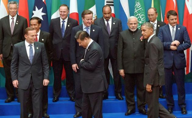 World leaders at the G20 summit in Brisbane, November 2014. Credit: PTI