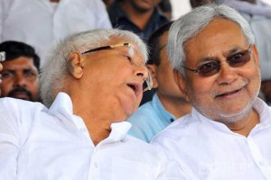 Lalu Prasad Yadav and Nitish Kumar. Credit: PTI Photo