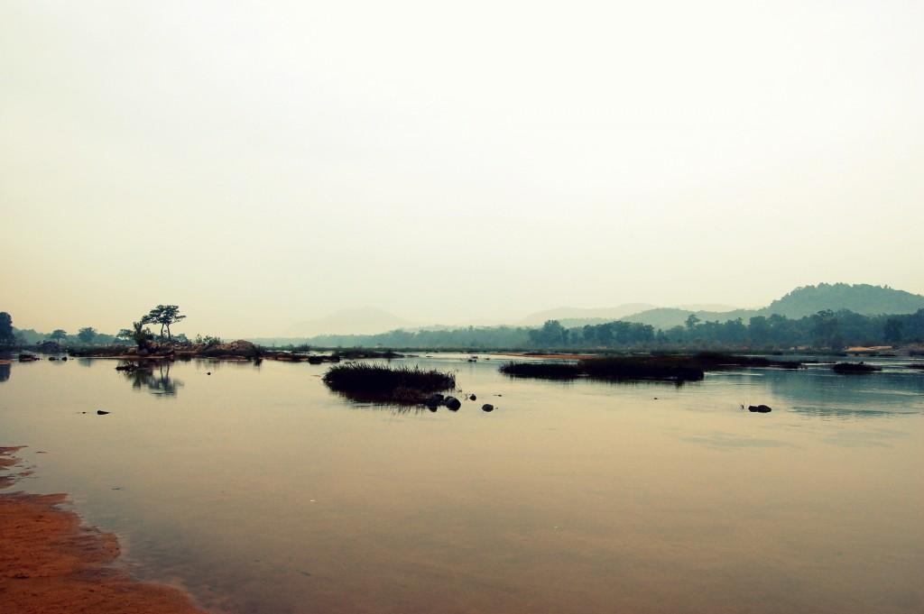 The Indrawati River, near the village of Bedre, in Bastar.
