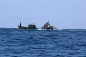 A YouTube screengrab of the boats carrying refugee Rohingyas from Myanmar.