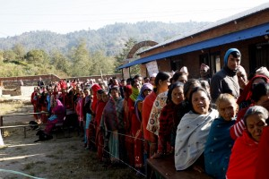 File photo of voting in the 2013 Constituent Assembly elections in Nepal.  Credit: Krish Dulal. Licensed under CC BY-SA 3.0 via Wikimedia Commons.