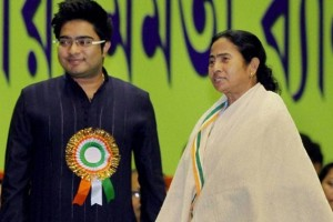 File photo of Abhishek Banerjee and his aunt, West Bengal Chief Minister Mamata Banerjee
