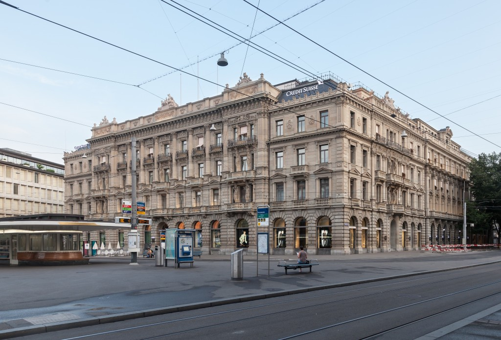File photo of the Zurich headquartes of Credit Suisse. Credit: Thomas Wolf, www.foto-tw.de - Own work. Licensed under CC BY-SA 3.0 de via Wikimedia Commons.