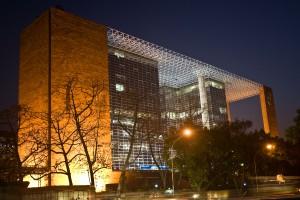 Charles Correa's iconic LIC Building in New Delhi. Photo: Vaishali Ahuja. CC 2.0.