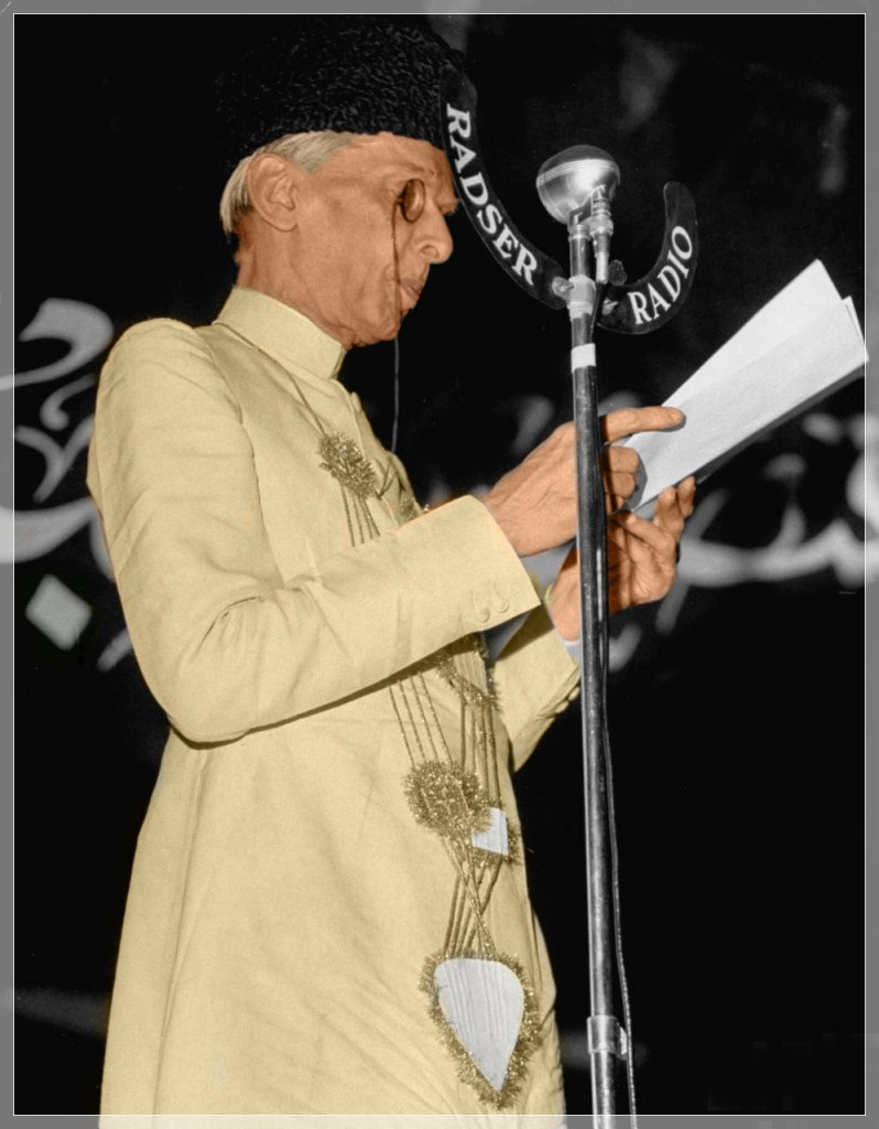 Mohammed Ali Jinnah, at the 1946 session of the Muslim League