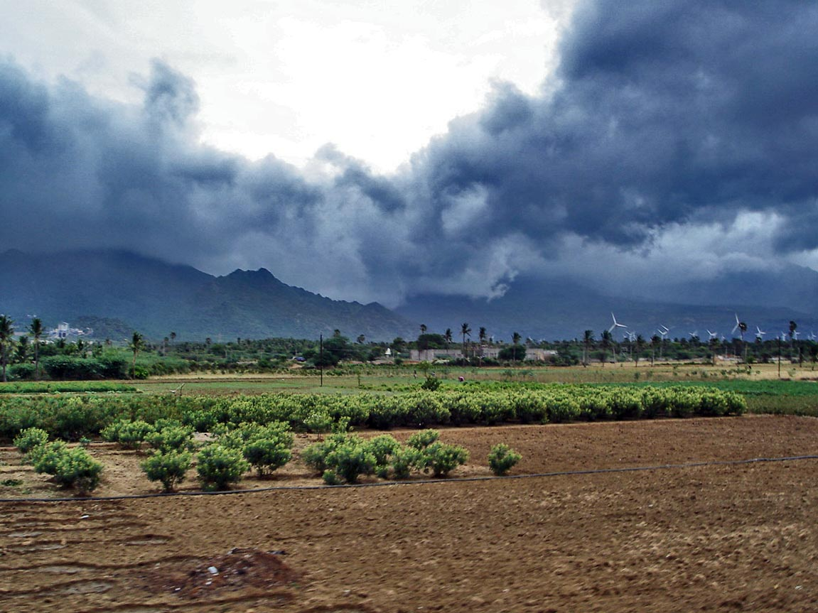 Monsoon clouds near Nagercoil. Credit: Wikimedia Commons