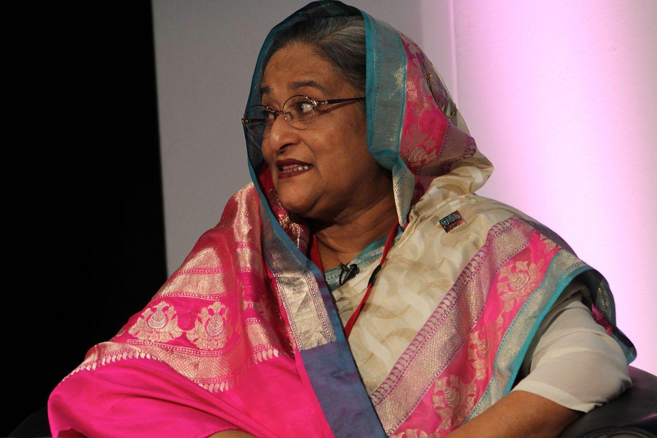 Bangladesh PM Sheikh Hasina. Credit: Wikimedia Commons