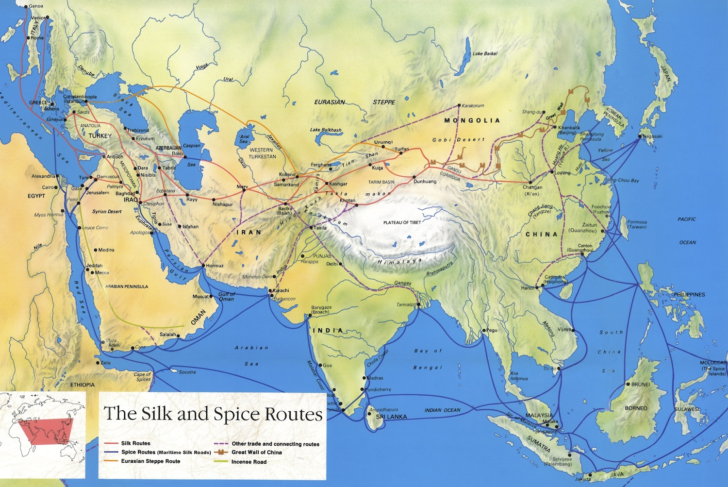 an analysis of the trans asian trade routes in the medieval era European trade routes  use best-teaching practices to discuss the practices and implications of the trans-atlantic slave trade  for this medieval era.