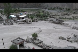 A picture of the 2010 floods in Ladakh. Credit: Wikimedia Commons