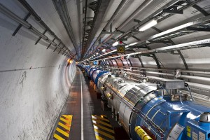 A view of the LHC tunnel. Credit: Wikimedia Commons