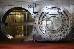 """WinonaSavingsBankVault"" by Jonathunder - Own work. Licensed under CC BY-SA 3.0 via Wikimedia Commons - https://commons.wikimedia.org/wiki/File:WinonaSavingsBankVault.JPG#/media/File:WinonaSavingsBankVault.JPG"