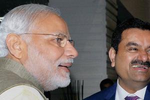 Prime Minister Narendra Modi with Gautam Adani. Credit: PTI