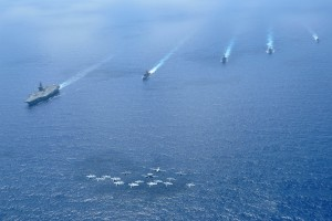 Military deployment in the South China Sea in 2009. Credit: Wikimedia Commons