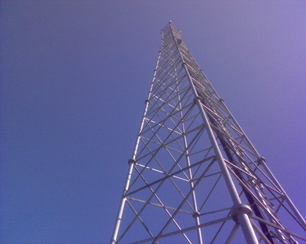 A cell phone tower. Credit: kalleboo/Flickr, CC BY 2.0.