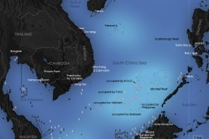 Map of the South China Sea. Credit: