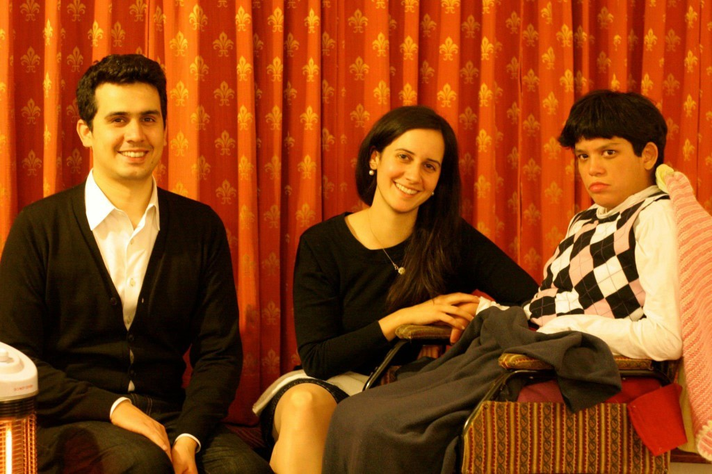The author's three children: Anand, Cathleen and Moy Moy. Credit: Jo McGowan Chopra