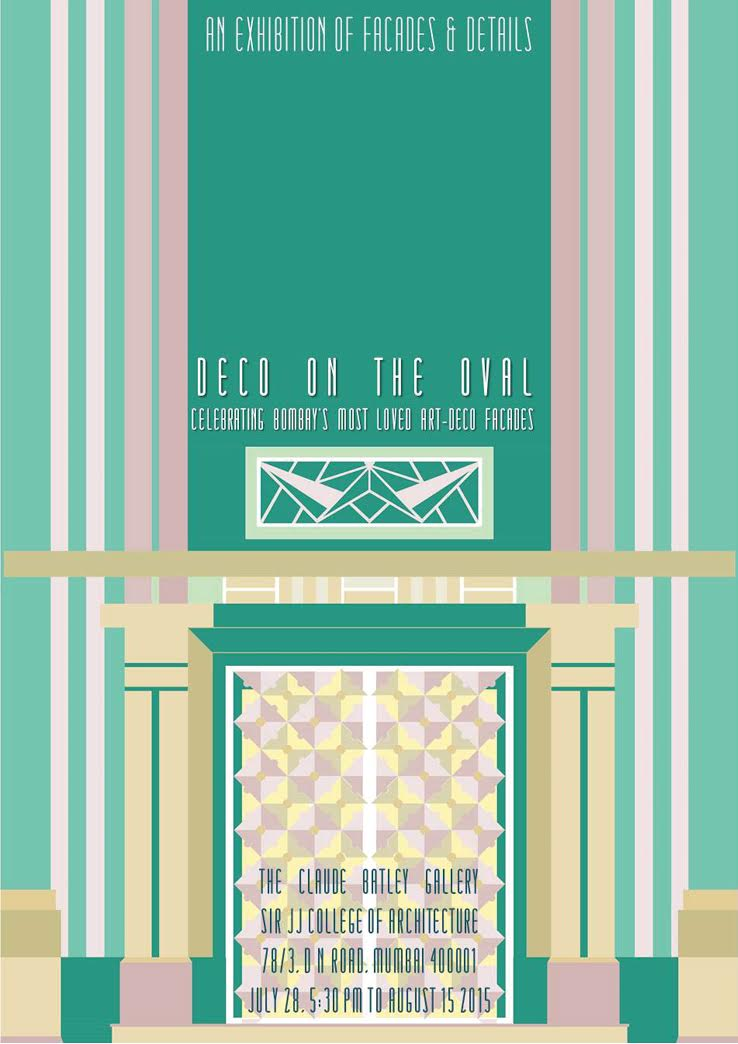 A poster for 'Deco on the Oval'