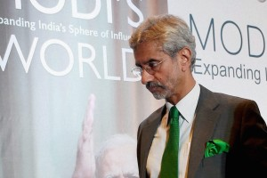 Foreign Secretary S. Jaishankar at the book launch of C. Raja Mohan's Modi's World. Credit: PTI