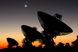Radio telescopes. Credit: SETI