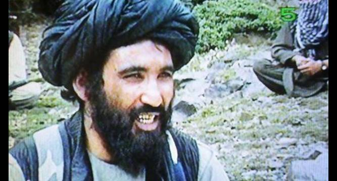 File photo of Mullah Mansour, the new leader of the Taliban