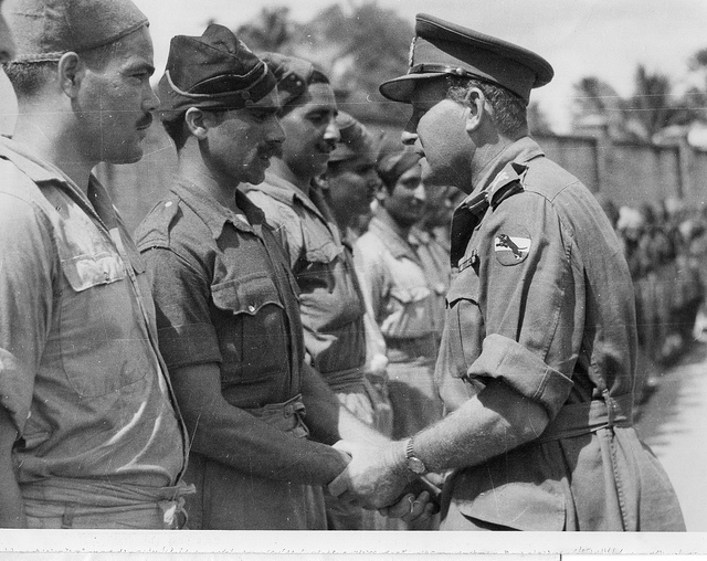 Indian troops getting ready to go to Malaya in the Second World War (Interservices Public Relations Directed)