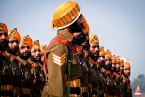 Soldiers of Sikh Light Infantry marching. (Photo Jaskirat Singh Bawa)