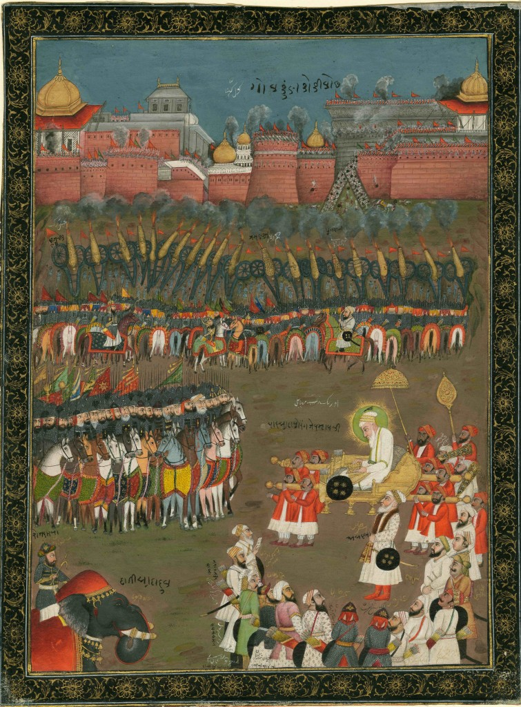 Emperor Aurangzeb at the siege of Golconda. Credit:   Anne S.K. Brown Military Collection, Brown University Library.