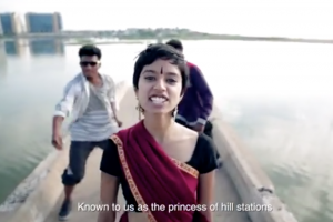 A screengrab from Sofia Ashraf's video, 'Kodaikanal Won't'. Source: YouTube