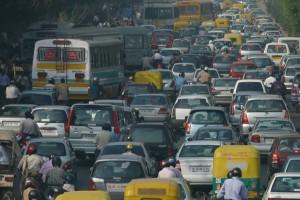 A traffic jam in Delhi. Credit: Wikimedia Commons