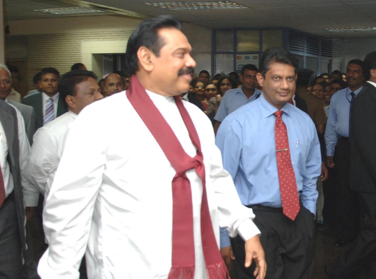 Former Sri Lankan President Mahinda Rajapaksa. Credit: Wikimedia Commons