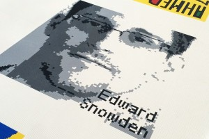 An artistic image of Edward Snowden. Credit: sfslim/Flickr, CC BY 2.0