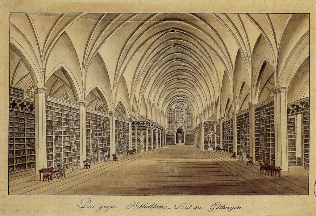 The library at Gottingen. Credit: Wikipedia