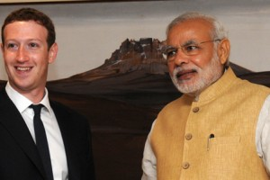 Facebook CEO Mark Zuckerberg meets Prime Minister Narendra Modi Credit: Wikipedia commons)