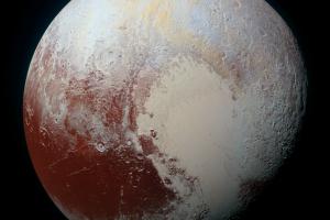 Pluto, as shot by the MVIC camera on board the New Horizons probe. Source: NASA