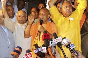 File photo of Gorakhpur BJP MP and Hindutva agitator Yogi Adityanath. Credit: PTI