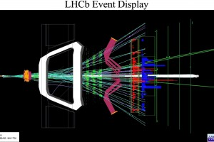 Reconstruction of an event in the LHCb detector. Credit: LHCb/CERN