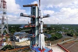 PSLV C30 on the launchpad at Sriharikota. Source: ISRO