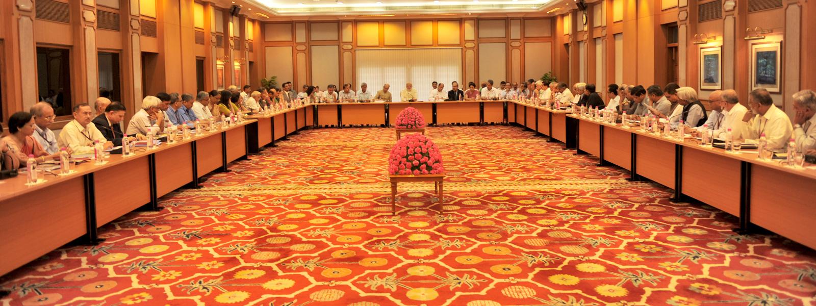 Narendra Modi's meeting with secretaries in the Central government in June 2014. Credit: narendramodi.n