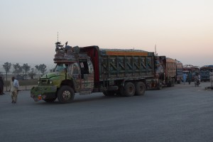 Pakistani trucks at the Wagah border. Credit: Guilhem Vellut/Flickr CC 2.0