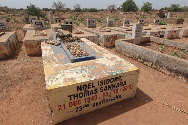 The grave of Thomas Sankara and his wife. Credit: Emeka B.