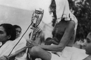 Gandhi in October 1947