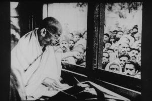 Gandhi on his way to Noakhali in 1946