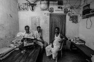 Nujahid Ansari, Aslam Niyazi and Sajjan Kumar Sah, who worked for peace after 'beef' was thrown into a Hindu area in Bhagalpur, Bihar. Credit: Javed Iqbal