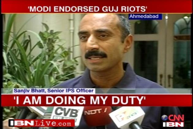 The Supreme Court has passed strong remarks against Sanjiv Bhatt (TV grab)