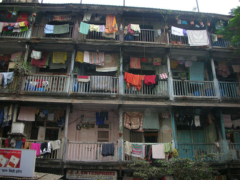 A typical chawl in Mumbai, where the author lived during his research into the textile strike in the 1980s