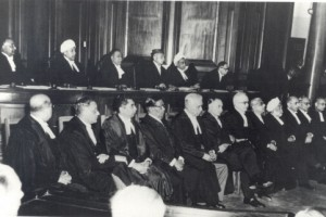 The good old days. File photo of judges of the Supreme Court in the 1950s. Credit: Supreme Court of India