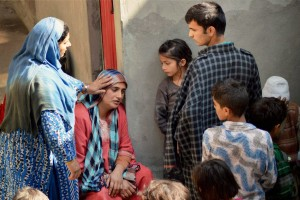 Family members of 24-years-old Zahid crying after the Kashmiri truck conductor who was injured in petrol bomb attack in Udhampur district dies in Delhi's Safdarjung Hospital, at his residence in Batango in Anantnag District of South Kashmir on Sunday. Credit: PTI