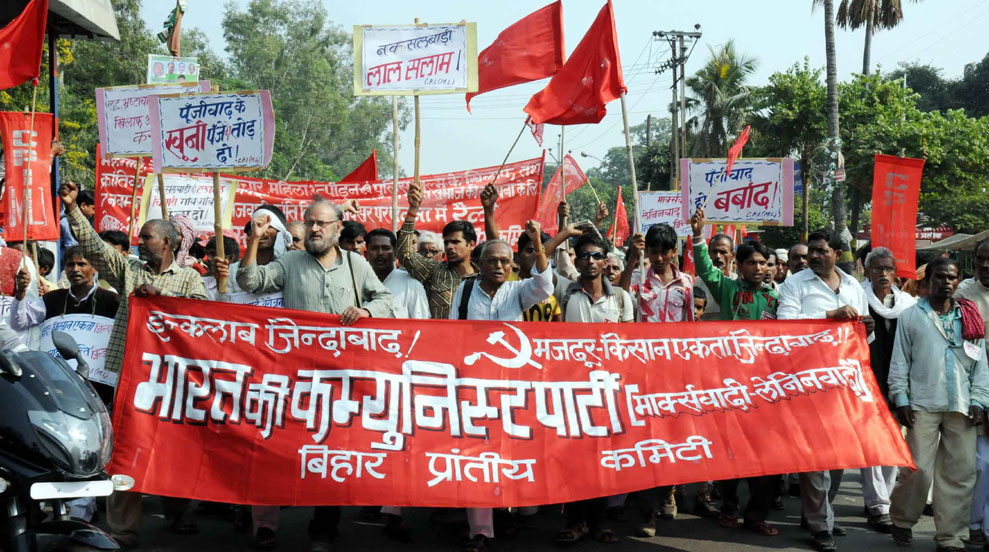 left protest